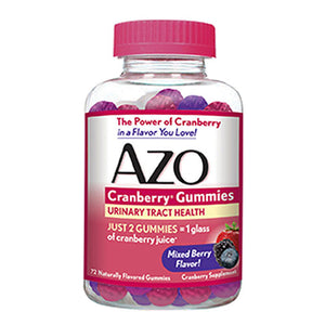 Cranberry Gummies Mixed Berry 40 Gummies by Azo