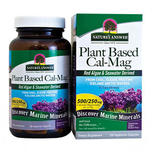 Plant Based Cal-Mag 120 Caps by Nature's Answer