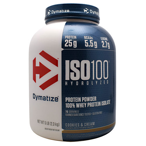 Iso-100 Cookies & Cream 5 lbs by Dymatize
