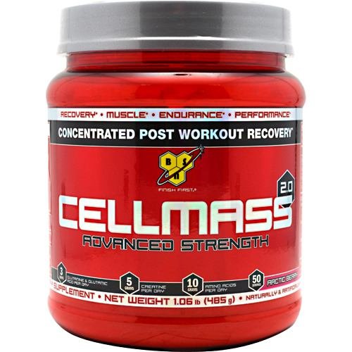 Cellmass 2.0 Arctic Berry 1.09 lbs by BSN Inc. Recovery. Muscle. Endurance. Performance. 3 grams Glutamine Taking Cellmass 2.0 promotes quicker and more efficient recovery, combats muscular fatigue and breakdown, and supports muscle strength, endurance and overall performance. Adequately recovered from an intense training session, athletes are better prepared to excel in the following day's workout. For anyone who wants to ensure that their workouts don't go to waste and their hard-earned muscle isn't compromised, Cellmass 2.0 is where mass and recovery begin.