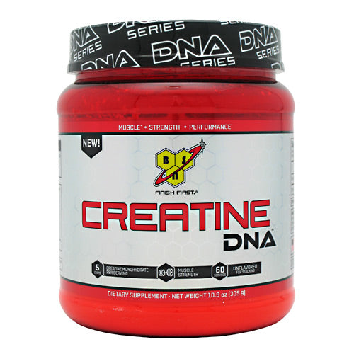 Creatine DNA 10.9 oz by BSN Inc. Creatine DNA provides 5 grams of pure, micronized Creatine Monohydrate, which supports strength, power, and lean body mass without any fillers or additives. Creatine helps fuel your muscles during periods of high-intensity exercise. Supplementing with Creatine Monohydrate can help replenish your body's own creatine stores.. And since Creatine DNA is unflavored, you can add it to your post-workout recovery shake or favorite beverage.