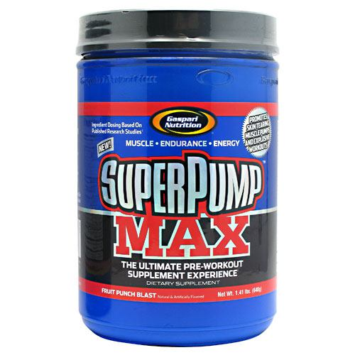 Super Pump Fruit Punch 1.8 lbs by Gaspari Nutrition WHAT KIND OF ATHLETE ARE YOU? That's the question you have to ask yourself when deciding which pre-workout product to use. And what is it you want out of that pre-workout product? Do you want to become STRONGER and throw MORE WEIGHT around in the gym? Do you want to look in the mirror and see the massive, lean and vascular physique you've always wanted? Do you want to step into the ring with the competition and DESTROY THEM? What kind of an athlete would you be if maximizing your genetic potential were NOT your goal? We have a feeling you know what we're talking about. This is why you have put your trust in a product name with over a half a decade of accolades and research. One that provides a TRUE ATHLETE like you with the latest and most advanced array of ingredients ever seen in a pre-workout powerhouse. The original SuperPump250 was arguably the best loved pre-workout product ever designed. However, research advances. This is why Rich Gaspari's commitment to making the ABSOLUTE BEST products is unwavering and why the best got even better with the creation of SuperPump MAX. Gaspari Nutrition doesn't rely on cheap stimulant laden formulas, cleverly crafted to claim they contain high concentrations of beneficial ingredients in order to win your support. Those do nothing more than get you buzzed like a junkie and that's about it. We rely on the ingredients backed by PUBLISHED STUDIES and actually use them in the doses VALIDATED by those studies. In this regard, Gaspari's commitment is unmatched in terms of giving you the results you EXPECT when spending your hard earned cash on a pre-workout product. So the question stands,  What type of an athlete are you?  Do you want a quality pre-workout product that will help you become bigger, stronger, and an absolute force to be reckoned with? Or will you sell yourself short in this most important time in your life with products that give you nothing more than a quick buzz,