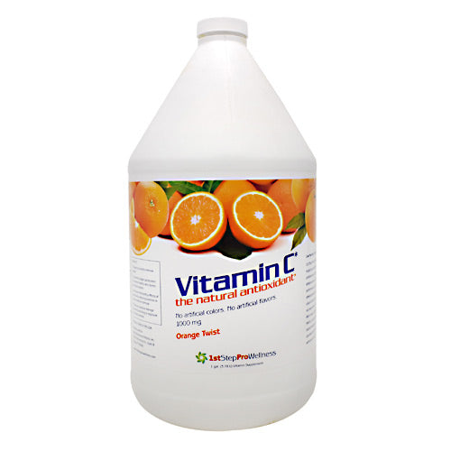 Vitamin C Orange Twist 1 Gal by High Performance Fitness, Inc. The natural antioxidant. No artificial colors. No artificial flavors. 1000mg. 1st step Pro-Wellness has been supplying nutritional supplements to professional, Olympic, and collegiate athletes since 2001. Improving the performance and overall health of athletes has been our vision. Now our vision is focused on you. Combining our experience and unique formulas into a new, complete line of supplements, we are committed to your overall health and vitality. Owned and operated by family and friends, we want you to live healthy and be healthy.