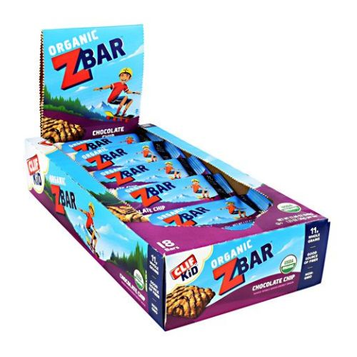 Cif ZBAR Chocolate Chip 18/1.27 oz by Clif Bar Baked Whole Grain Energy Snack. 10g Whole Grains. 12 Vitamins & Minerals. No High Fructose Corn Syrup. No Preservatives or Artificial Flavors. No Hydrogenated Oils or Trans Fats. Excellent Source of Calcium. Good Source of Fiber (Contains 4g Total Fat). In raising our family, we always wish to find organic snacks to nourish our kids as they are on the move, competing in sports, studying or playing with friends. Their lives are as busy as ours, so although we prefer to make them food from scratch, it's not always possible. That's why we created CLIF Kid Organic ZBar. Each satisfying organic bar is made with whole oats and contains 12 essential vitamins and minerals kids need every day. What you won't find is all the junk. Organic ZBar contains no hydrogenated oils, no high fructose corn syrup, no preservatives, no artificial flavors or colors. Organic ZBar gives kids in motion a choice of snacks with the nutrition and energy they need and a taste they really like-so they can keep going, growing and exploring. We hope your kids enjoy them!
