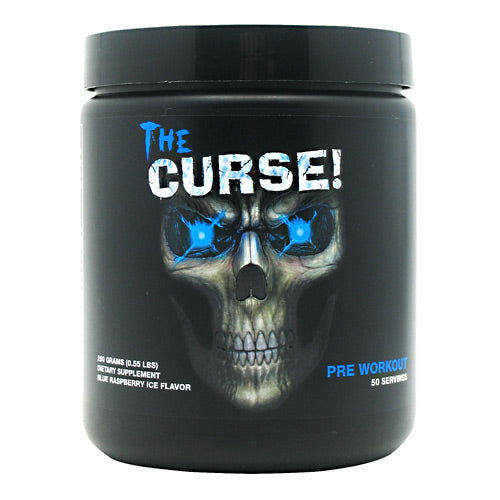 The Curse Blue Rasberry 0.55 lbs by Cobra Labs Unleash your true potential with the supernatural power of The Curse...An unworldly synergistic blend of stimulants provides extreme mental focus, pure physical energy, strength and endurance that will blow your mind. This is the ultimate workout. Step in to the darkness... Unleash Hell!