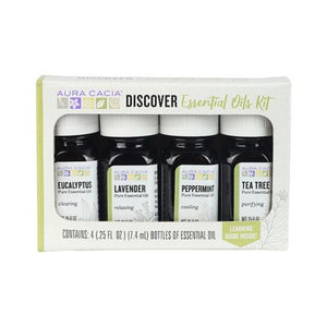 Essential Oil Discovery Kit 4/ .25Oz by Aura Cacia