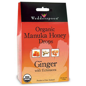 Organic Manuka Honey Drops - Ginger 4 OZ