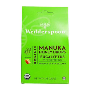 Organic Manuka Honey Drops Eucalyptus 4 OZ by Wedderspoon Organic