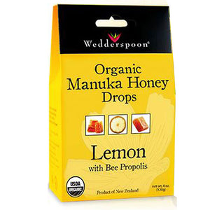 Manuka Honey Drop Lemon 4 OZ by Wedderspoon Organic