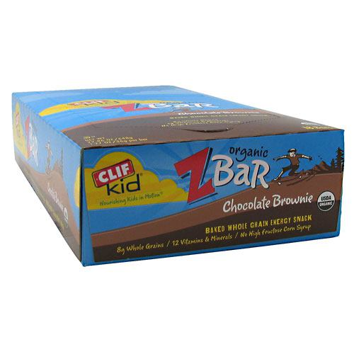 Clif Zbar Chocolate Brownie 18/ Box by Clif Bar Baked Whole Grain Energy Snack. 8g Whole Grains. 12 Vitamins & Minerals. No High Fructose Corn Syrup. No Preservatives or Artificial Flavors. No Hydrogenated Oils or Trans Fats. Excellent Source of Calcium. Good Source of Fiber (Contains 3.5g Total Fat). In raising our family, we always wish to find organic snacks to nourish our kids as they are on the move, competing in sports, studying or playing with friends. Their lives are as busy as ours, so although we prefer to make them food from scratch, it's not always possible. That's why we created CLIF Kid Organic ZBar. Each satisfying organic bar is made with whole oats and contains 12 essential vitamins and minerals kids need every day. What you won't find is all the junk. Organic ZBar contains no hydrogenated oils, no high fructose corn syrup, no preservatives, no artificial flavors or colors. Organic ZBar gives kids in motion a choice of snacks with the nutrition and energy they need and a taste they really like-so they can keep going, growing and exploring. We hope your kids enjoy them!