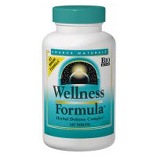 Wellness Formula Tablets 180 Tabs by Source Naturals The Wellness Family of products is designed to support the immune system when under physical stress. The Wellness Formula contains a powerful combination of herbs, antioxidants, vitamins and minerals formulated to boost your well-being.*