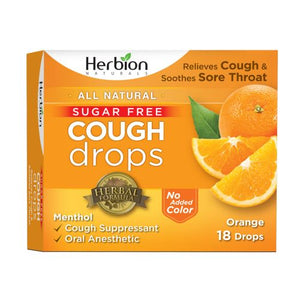 Cough Drops - Orange 18 Lozenges