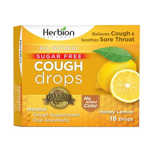 Cough Drops - Honey Lemon 18 Lozenges