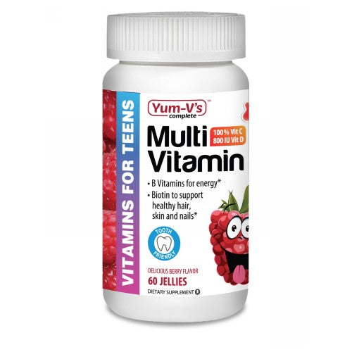 Multi Vitamins for Teens Raspberry 60 Count by Dulce Probiotics Multi Vitamins for Teens Raspberry 60 Count by Dulce Probiotics