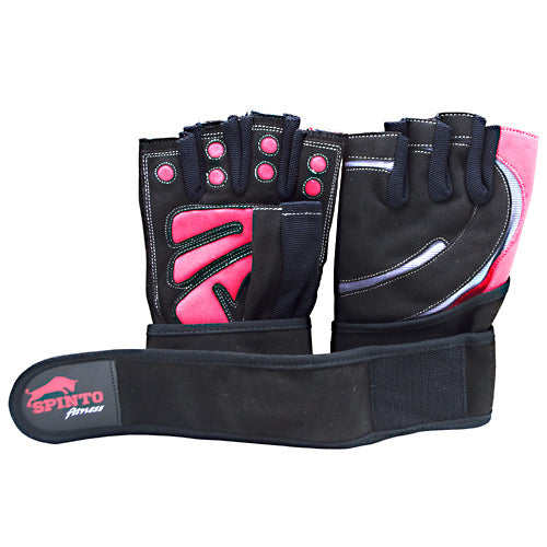 Men's Workout Gloves Red, Medium 1 Pair by Spinto USA LLC Men's Workout Gloves Red, Medium 1 Pair by Spinto USA LLC