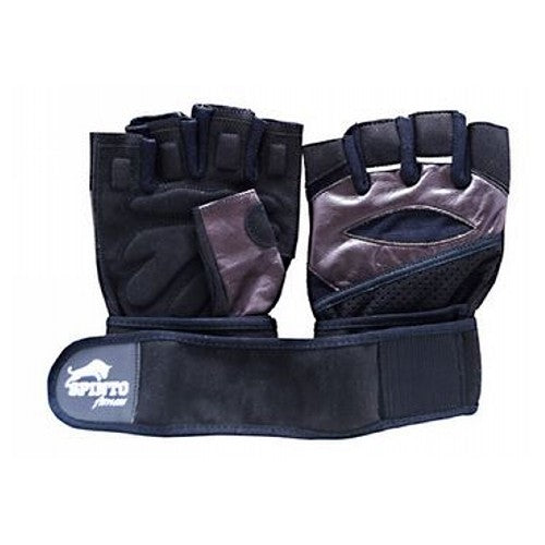 Men's Workout Gloves Brown, Small 1 Pair by Spinto USA LLC Spinto fitness, Men's Workout Glove w/ Wrist Wraps. Fully Adjustable wrist wrap provides maximum support and flexibility, Improves grip and increases stability, Comfort layered fabric maintains shape after use and washing, No-Sweat lining helps keep hands dry.