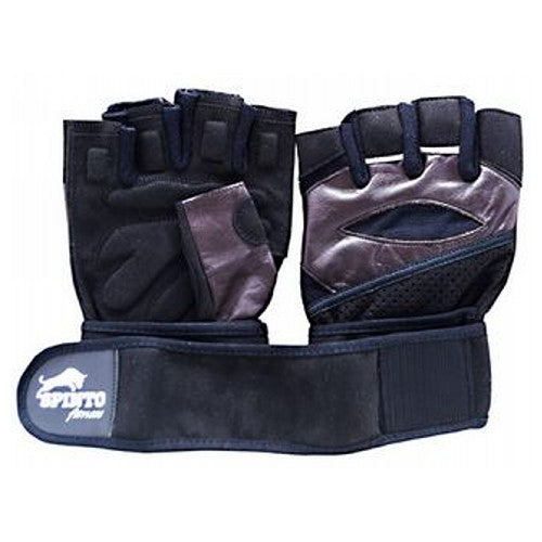 Men's Workout Gloves Brown, Large 1 Pair by Spinto USA LLC Spinto fitness, Men's Workout Glove w/ Wrist Wraps. Fully Adjustable wrist wrap provides maximum support and flexibility, Improves grip and increases stability, Comfort layered fabric maintains shape after use and washing, No-Sweat lining helps keep hands dry.