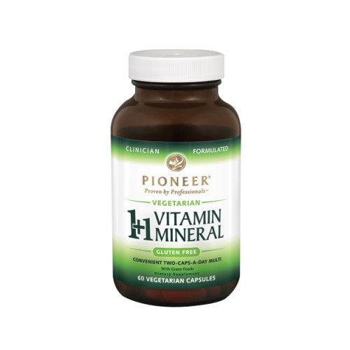 1+ 1 Vitamin Mineral Veg 60 ct by Pioneer Nutritionals 1+ 1 Vitamin Mineral Veg 60 ct by Pioneer Nutritionals