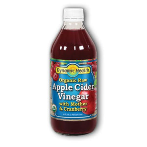 Apple Cider Vinegar with Mother & Cranberry Certified Organic Liquid Cranberry, 16oz by Dynamic Health Laboratories