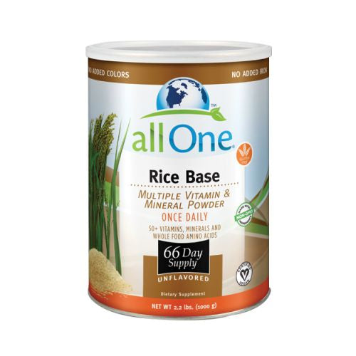Multiple Vitamin and Mineral Powder, Rice Base 1000 GRM (66 Day Supply) by All-One (Nutri-Tech) 100% Pure Nutrition50+ Vitamins, Minerals and Whole Food Amino Acids66 Day SupplyCertified VeganNo Sweeteners  No Gluten  No Flavors  No Excipients  No Fillers  No Colors  No IronNo Yeast  No DairyOnce Daily Supplement