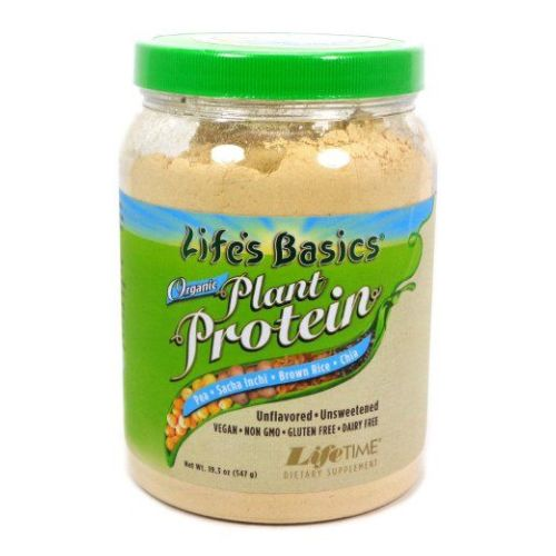 Life's Basics Organic Plant Protein Coarse Powder Unflavored, 19.3oz by Life Time Nutritional Specialties Life's Basics Organic Plant Protein Coarse Powder Unflavored, 19.3oz by Life Time Nutritional Specialties