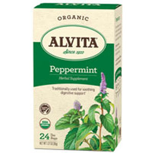Organic Peppermint Leaf 24 Bags by Alvita Teas