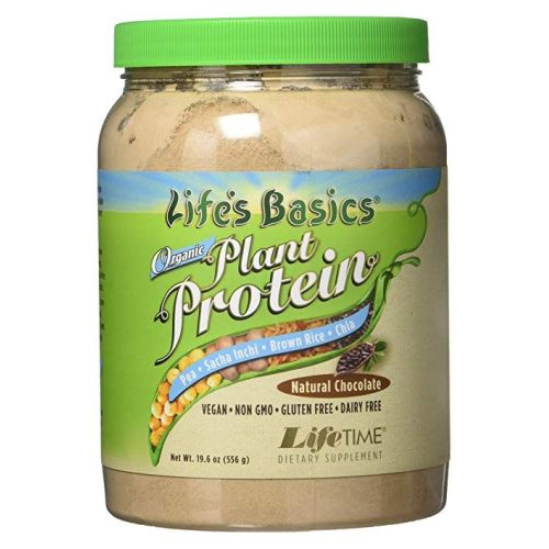Life's Basics Organic Plant Protein Coarse Powder Chocolate, 19.6oz by Life Time Nutritional Specialties Life's Basics Organic Plant Protein Coarse Powder Chocolate, 19.6oz by Life Time Nutritional Specialties