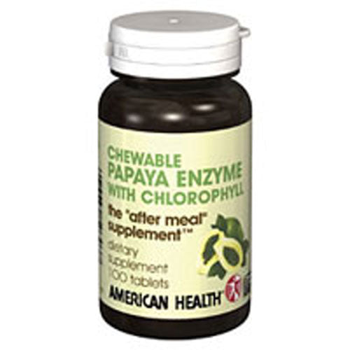 Papaya Enzyme With Chlorophyll 250 Chewable Tablets by American Health Considered as Dietary SupplementDigestive HealthNatural Digestive Enzyme SupportPromotes Nutrient AbsorptionThe  After Meal  SupplementVegetarian Formula