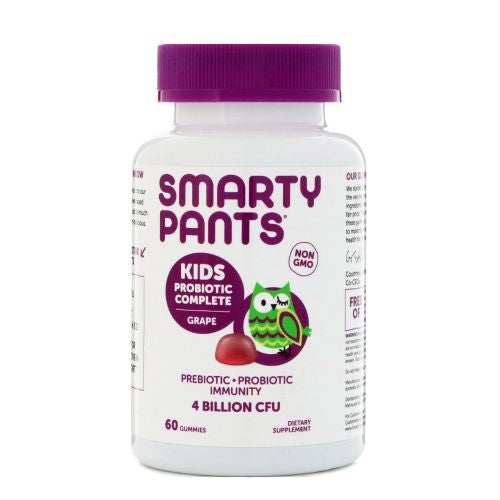 Kids Probiotic Grape 60 Count by SmartyPants Gummy Vitamins Kids Probiotic Grape 60 Count by SmartyPants Gummy Vitamins