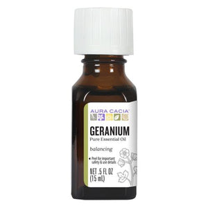 Essential Oil Geranium - (pelargonium graveolens) 0.5 Fl Oz