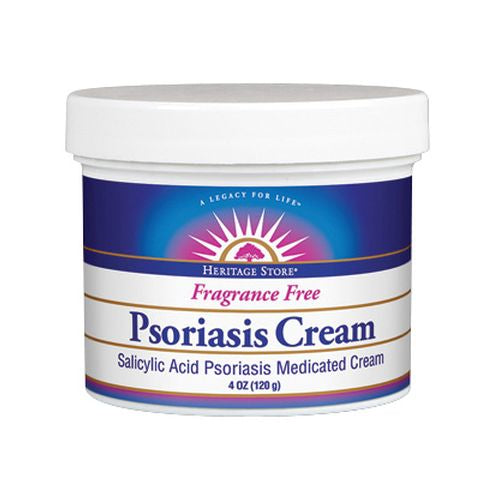 Psoriasis Cream Fragrance Free 4 Oz by Heritage Store