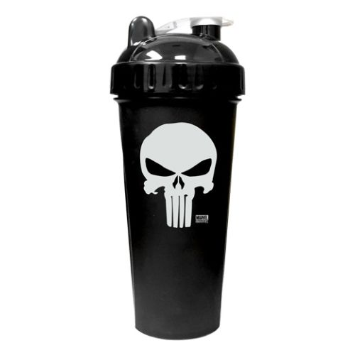 Shaker Cup Punisher 28 Oz by PerfectShaker Punisher 28oz shaker cup. World's 1st Superhero Shaker Bottle. Now you can rehydrate and fuel like your favourite hero. What makes a PerfectShaker so  Perfect ? Smooth & Delicious Mixes Everytime, 100% Leak-Free Guaranteed, BPA-Free, Easy to Clean & Dishwasher Safe, Extra strong bottle design UV ExtraLast Ink.