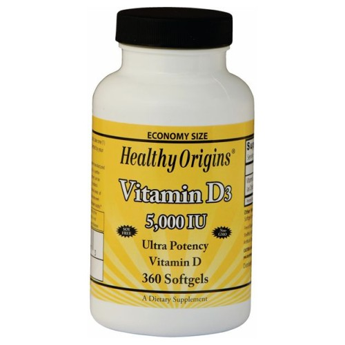 Vegetarian Vitamin D3 5000 IU 360 Veggie Gels by Healthy Origins Vegetarian Vitamin D3 5000 IU 360 Veggie Gels by Healthy Origins