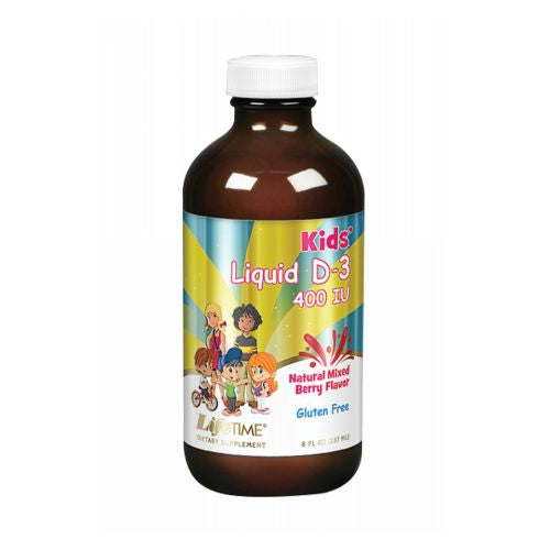 Vitamin D3 Kids Mixed Berry 8 Oz by LifeTime Vitamin D3 Kids Mixed Berry 8 Oz by LifeTime