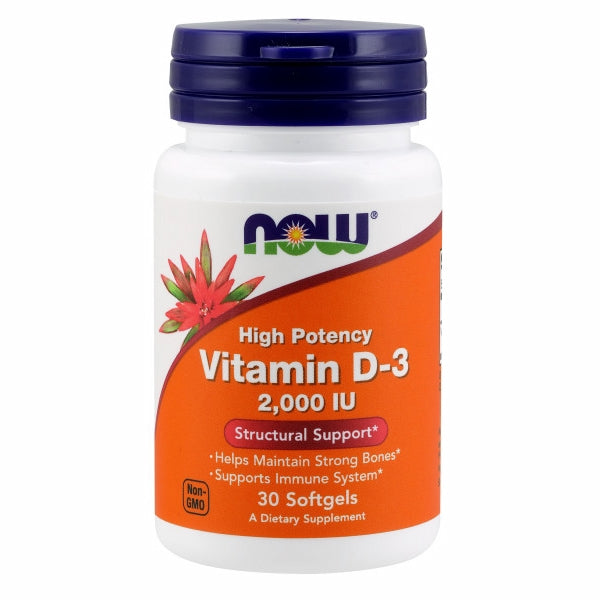 Vitamin D-3 30 Softgels by Now Foods Now Vitamin D-3 softgels supply this key vitamin in a highly-absorbable liquid softgel form. Vitamin D is normally obtained from the diet or produced by the skin from the ultraviolet energy of the sun. However, it is not abundant in food. As more people avoid sun exposure, Vitamin D supplementation becomes even more necessary to ensure that your body receives an adequate supply.