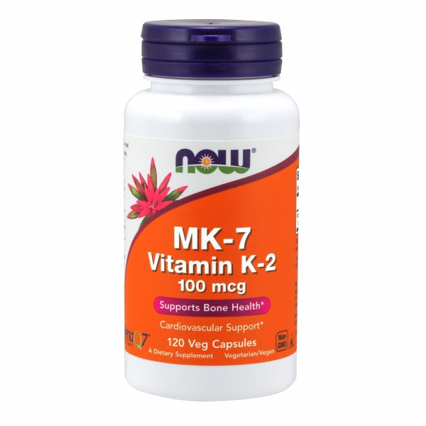 Vitamin K-2 120 Veg Caps by Now Foods Although Vitamin K is historically known for its role in normal blood clotting function, we now know that Vitamin K is also essential to bone, cardiovascular, and nervous system health.* As a biologically active form of Vitamin K, K-2 is important for the formation of healthy, strong bone matrix.* Vitamin K's role in arterial health revolves around its ability to support proper calcium metabolism in vascular structures.*