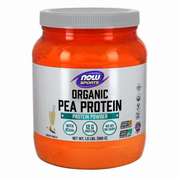 Organic Pea Protein Vanilla 1.5 lbs by Now Foods Peas are well known for being a source of highly bioavailable protein. Additionally, peas are not considered one of the major dietary allergens. Collectively, this makes pea protein an ideal source of post-workout nutrition for athletes who may have difficulty supplementing with other types of protein.