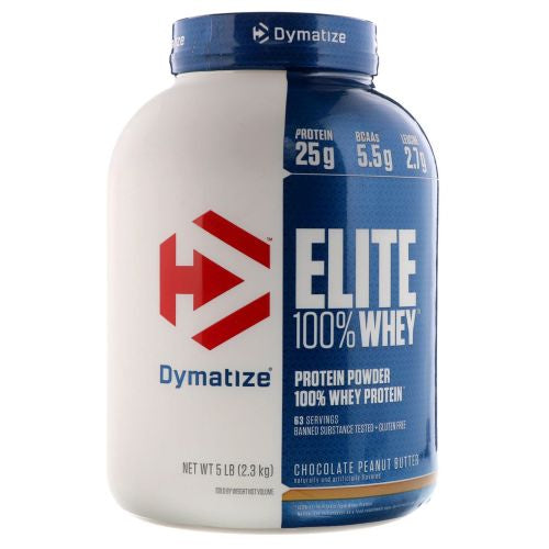 Elite 100% Whey Chocolate Peanut Butter 5 lbs by Dymatize