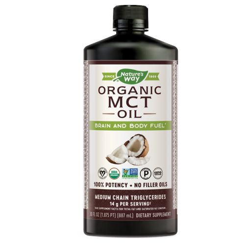 Mct Oil From Coconut 30 Oz by Nature's Way No flavor means it's easy to take by the tablespoon or mix into smoothies, shakes, coffee or other beverages. No refrigeration required. Store in a cool, dry place. Only from premium coconuts, no palm or other filler oils, flavorless and odorless. Hexane-free, BPA Free.