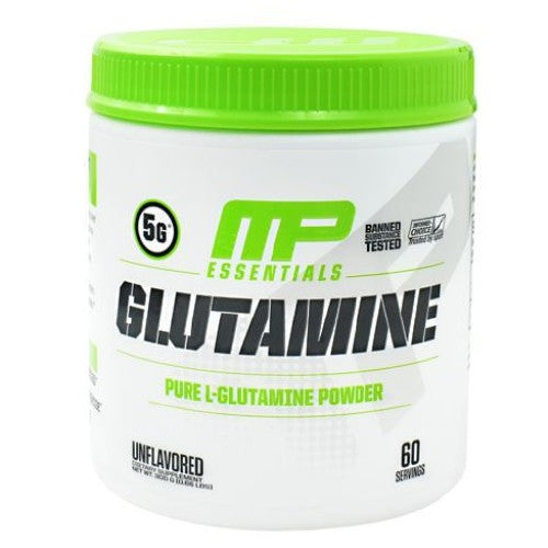 Essentials Glutamine 300 Grams by Muscle Pharm 5g. Pure L-Glutamine Powder. Glutamine Is Important For Your Success. MusclePharm Glutamine Helps You Rebuild And Recover From Even The Toughest Of Workouts. Intense Activity Will Deplete Glutamine, An Amino Acid Necessary For Protein And Muscle Synthesis. Whether You Follow An Advanced Training Routine Or Are Just Starting One.