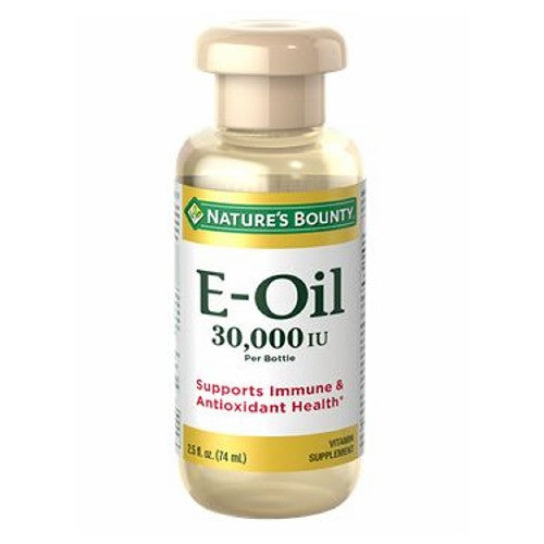 Vitamin E Oil 12 X 2.5 Oz by Nature's Bounty Pure enough to swallow, our Vitamin-E Oil provides antioxidant and immune support.* When applied to the skin, Vitamin E can help maintain your skin?s natural moisture, which contributes to a radiant, youthful looking complexion.
