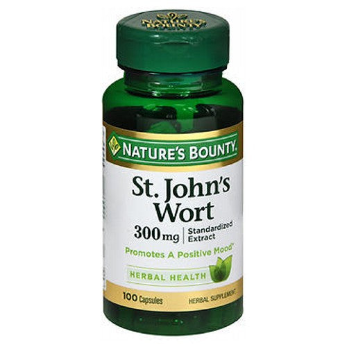 Nature's Bounty St. Johns Wort Herbal Supplement 24 X 100 Caps by Nature's Bounty 0.3% HypericinGuaranteed QualityHealthy You. Healthy Earth.Herbal Supplement Laboratory TestedPromotes a Positive MoodStandardized Extract