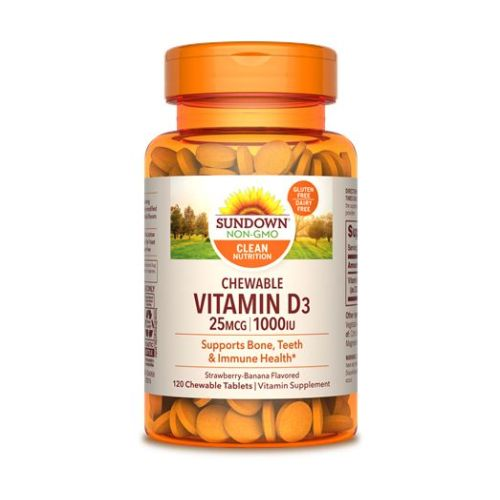 Sundown Naturals Chewable Vitamin D3 12 X 120 Chewable Tabs by Sundown Naturals Sundown Naturals Chewable Vitamin D3 12 X 120 Chewable Tabs by Sundown Naturals