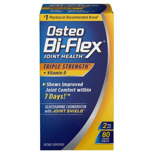 Osteo Bi-Flex Triple Strength With Vitamin D3 12 X 80 Tabs by Osteo Bi-Flex Osteo Bi-Flex Triple Strength With Vitamin D3 12 X 80 Tabs by Osteo Bi-Flex