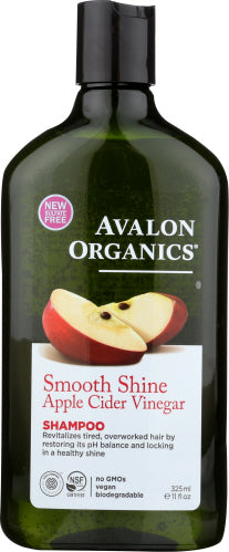 Smooth Shine Apple Cider Vinegar Shampoo 11 Oz by Avalon Organics