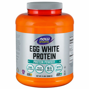 Now Sports Egg White Protein, Unflavored Powder - 5Lbs (2268g)