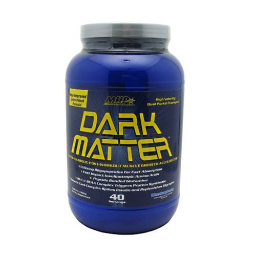 Dark Matter Fruit Punch 3.4 lbs by Maximum Human Performance Dark Matter is the Ultimate Post-Workout formula. Dark Matter contains the latest advancements in post-workout nutrition, with ingredients such as Waximaize Essential Amino Acids, Creatine and other co factors. Dark Matter will absorb faster than whey isolate, replenish glycogen and increase cell volume with dual portal muscle feeding technology. Dark Matter will induce protein synthesis by 600%, which is equivalent to 40 grams of whey isolate.