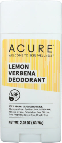 Lemon Verbena Deodorant Lemon Verbena 2.25 Oz by Acure