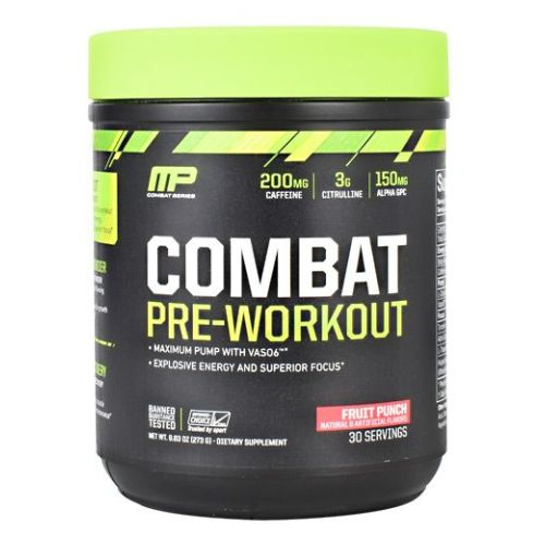 Combat Pre-Workout Fruit Punch 30 Servings by Muscle Pharm Combat Pre-Workout Fruit Punch 30 Servings by Muscle Pharm