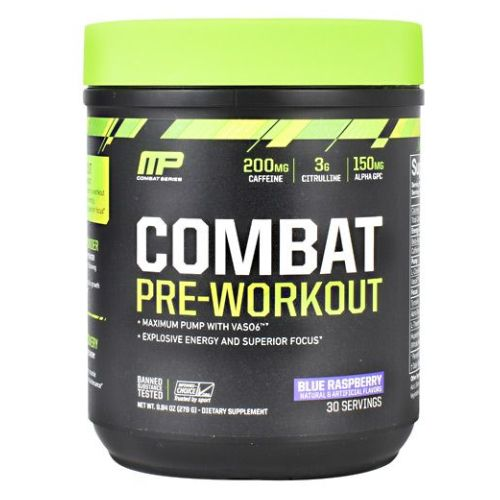 Combat Pre-Workout Blue Raspberry 30 Servings by Muscle Pharm Combat Pre-Workout Blue Raspberry 30 Servings by Muscle Pharm